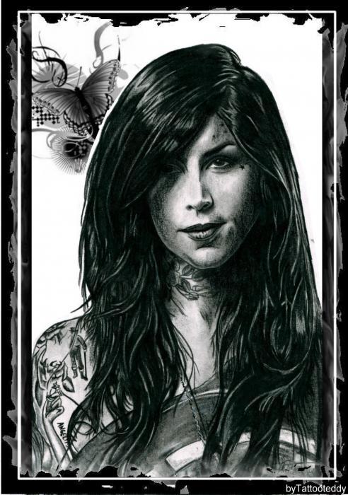 Kat Von D by Tattooteddy
